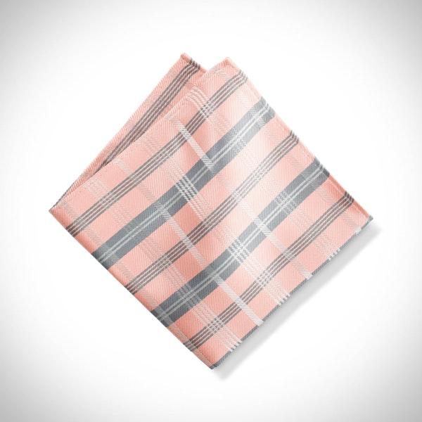 Bellini Plaid Pocket Square