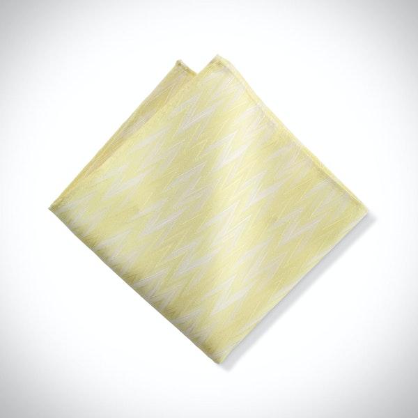 Canary Zig Zag Pocket Square