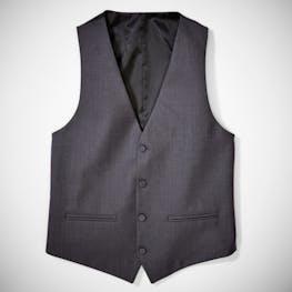 Charcoal Notch Lapel Tuxedo Vest