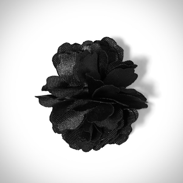 Black Carnation Lapel Pin