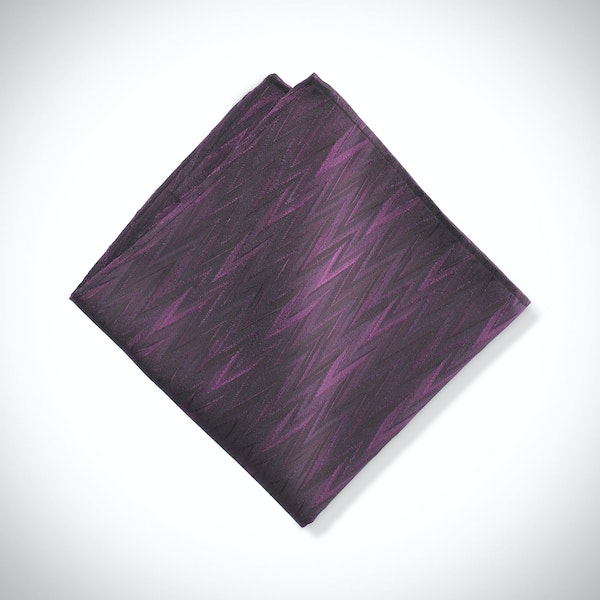 Plum Zig Zag Pocket Square