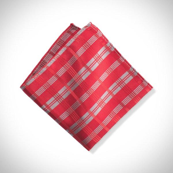 Ruby Valentino Plaid Pocket Square