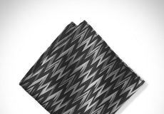 Black Zig Zag Pocket Square