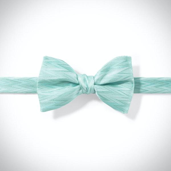 Tiffany Blue Zig Zag Pre-Tied Bow Tie