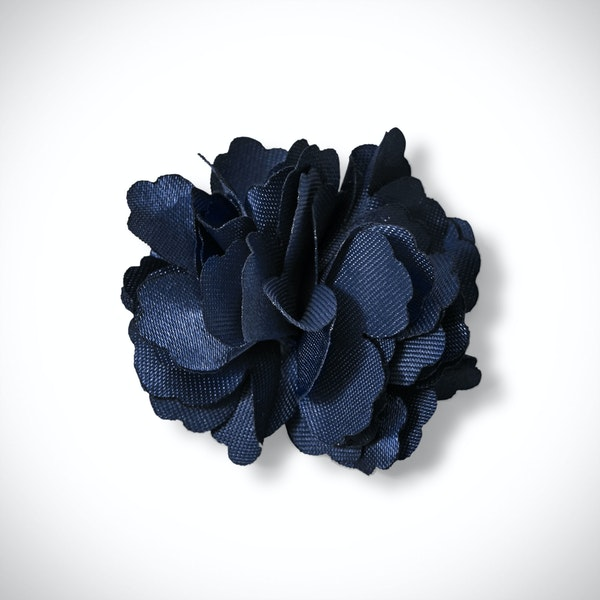 Dark Navy Carnation Lapel Pin