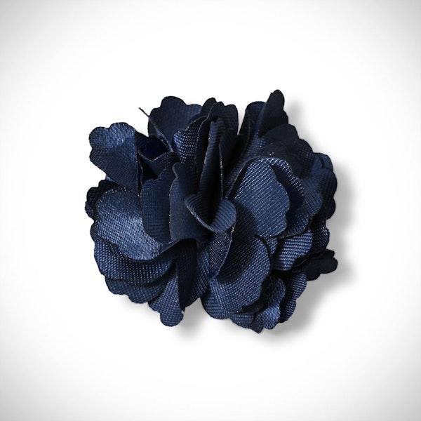 Dark Navy Carnation Lapel Pin