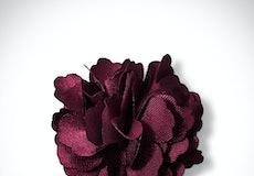 Sangria Carnation Lapel Pin