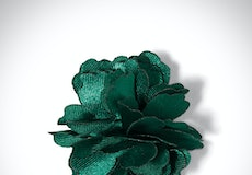 Emerald Carnation Lapel Pin