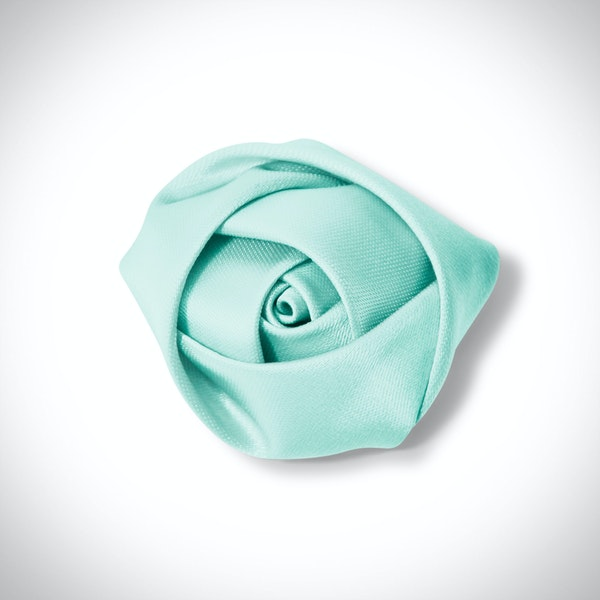 Tiffany Blue Rose Lapel Pin