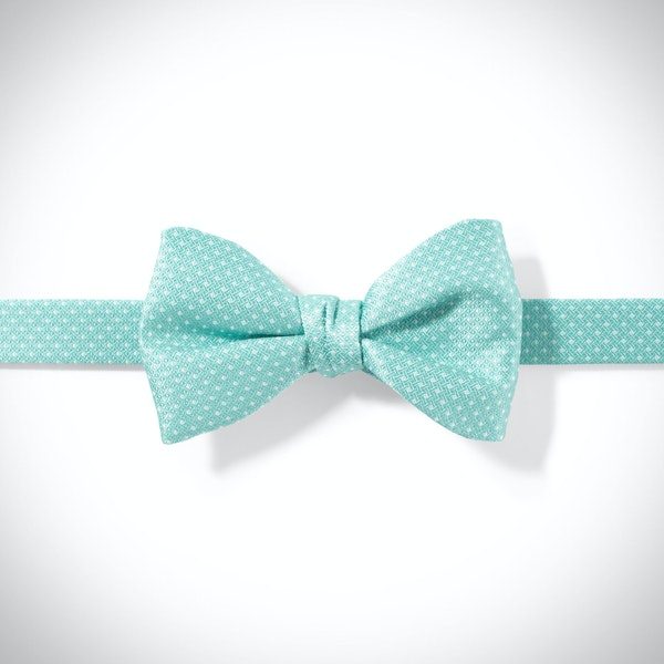 Tiffany Blue and White Pin Dot Bow Tie
