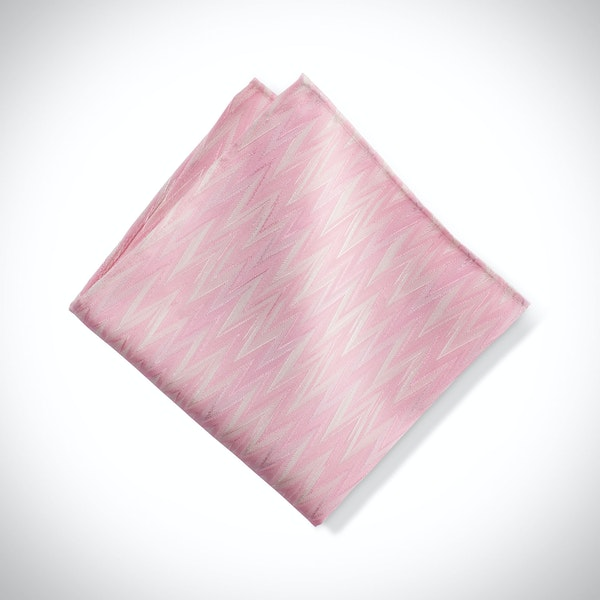 Tickled Zig Zag Pocket Square