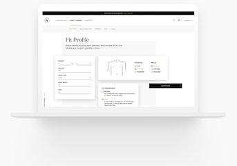 Generation Tux Fit Profile page views on a laptop.
