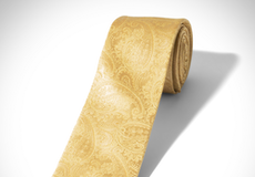Yellow Paisley Tie