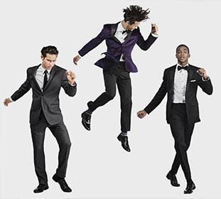 guys in tux dancing