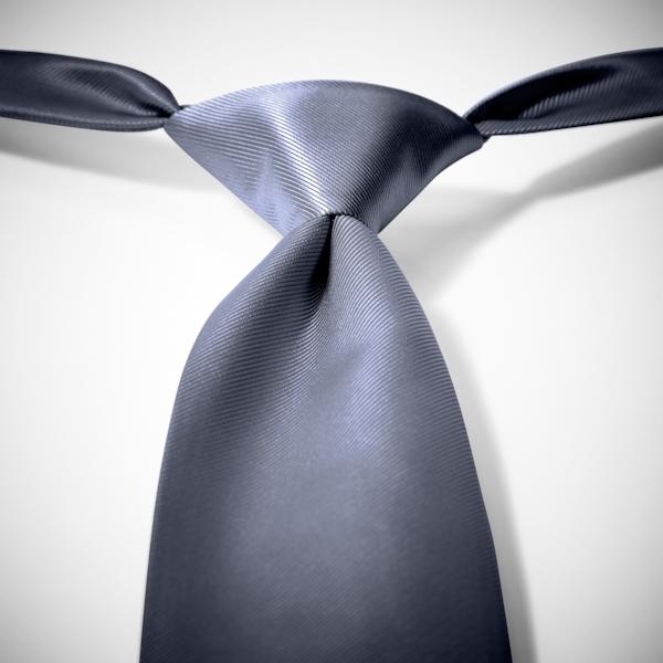 Pewter Pre-Tied Tie