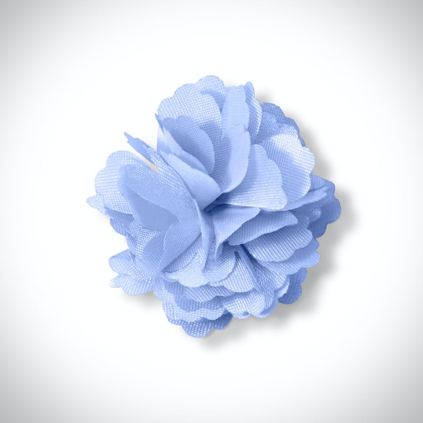 Ice Blue Carnation Lapel Pin