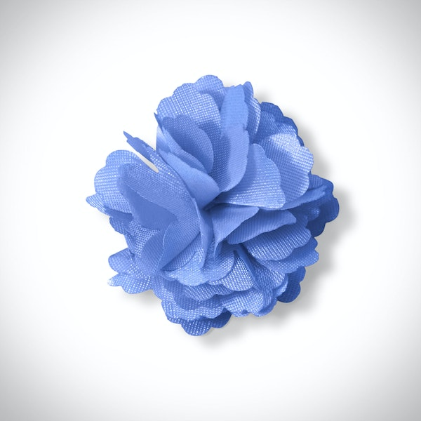 Cornflower Carnation Lapel Pin