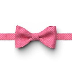 Bright Fuchsia Pin Dot Pre-Tied Bow Tie