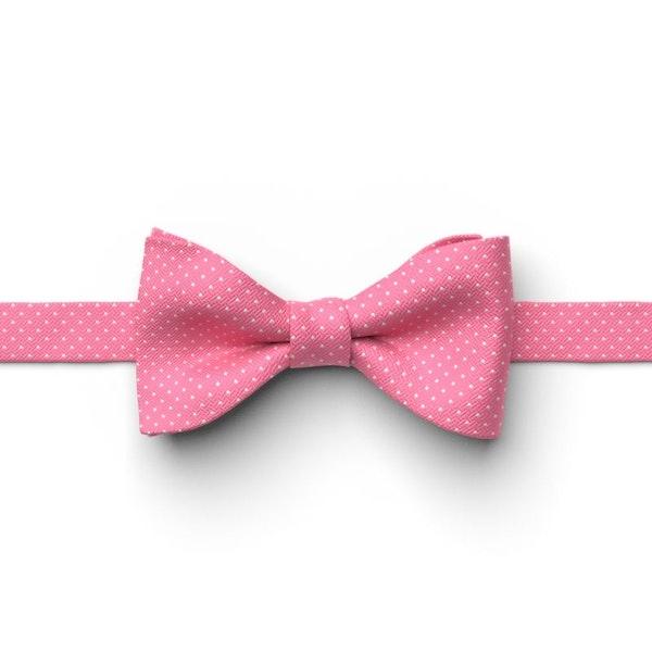 Bubble Gum Pin Dot Pre-Tied Bow Tie