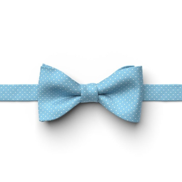 Blue Ice Pin Dot Pre-Tied Bow Tie