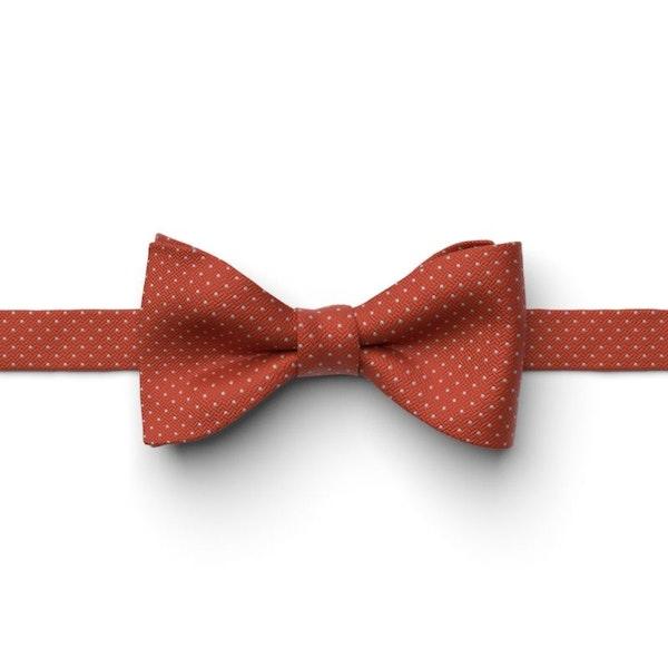 Burnt Orange Pin Dot Pre-Tied Bow Tie