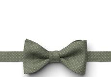 Clover Pin Dot Pre-Tied Bow Tie