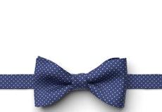 Cobalt Pin Dot Pre-Tied Bow Tie