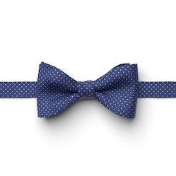 Cobalt Pin Dot Pre-Tied Bow Tie