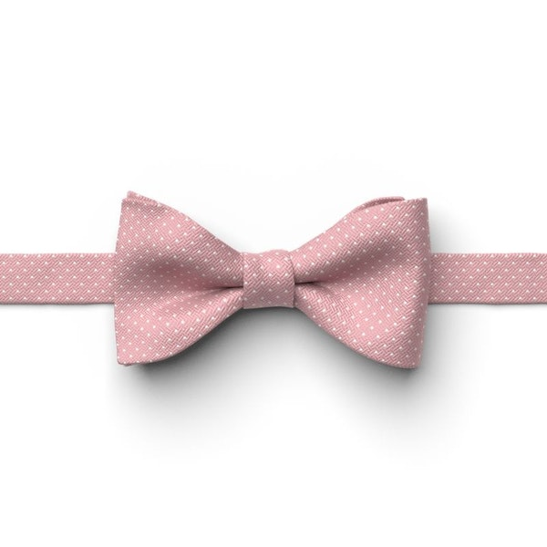 Dusty Rose Pin Dot Pre-Tied Bow Tie