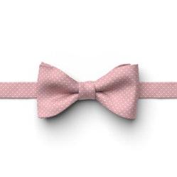 Dusty Rose Pin Dot Pre-Tied Bow Tie