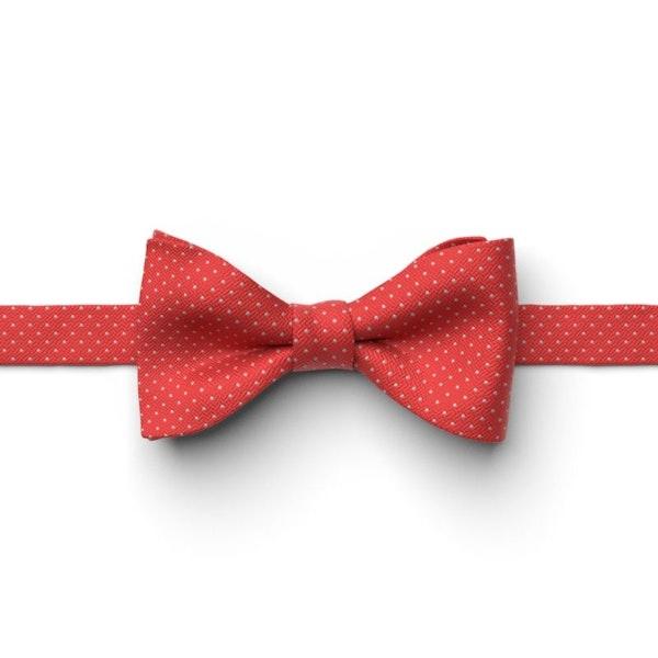 Ferrari Red Pin Dot Pre-Tied Bow Tie