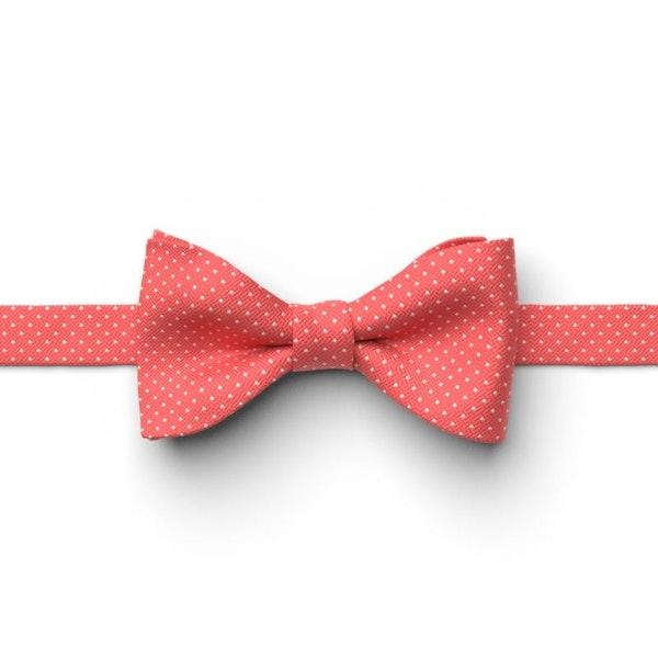 Guava Pin Dot Pre-Tied Bow Tie