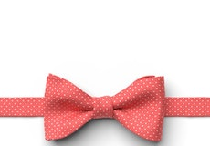 Guava Pin Dot Pre-Tied Bow Tie