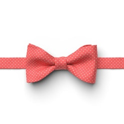 Guava-Sunset Pin Dot Pre-Tied Bow Tie