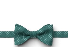 Jade Pin Dot Pre-Tied Bow Tie