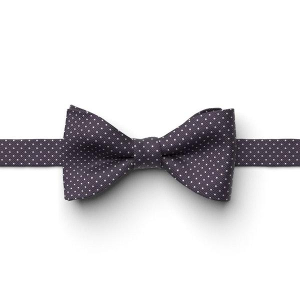 Lapis Pin Dot Pre-Tied Bow Tie