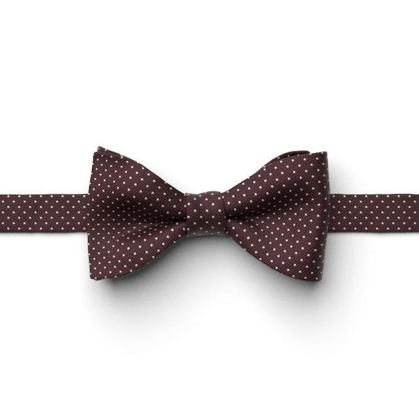 Merlot Pin Dot Pre-Tied Bow Tie