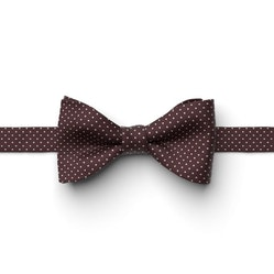 Wine-Merlot Pin Dot Pre-Tied Bow Tie