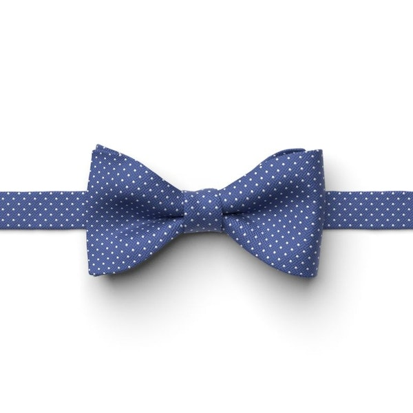 Morning Glory Pin Dot Pre-Tied Bow Tie