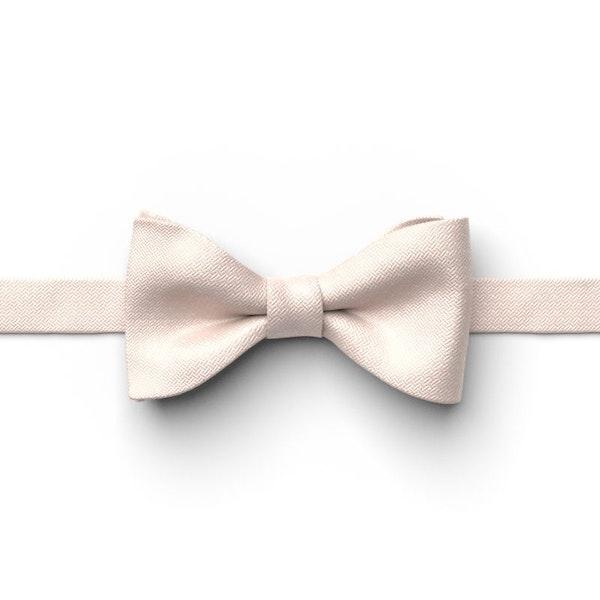 Nude Pin Dot Pre-Tied Bow Tie