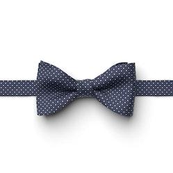 Navy-Marine Pin Dot Pre-Tied Bow Tie