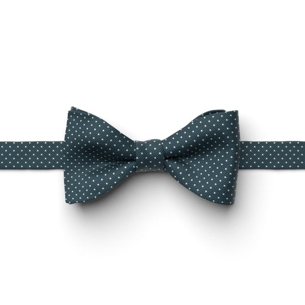 Peacock Pin Dot Pre-Tied Bow Tie