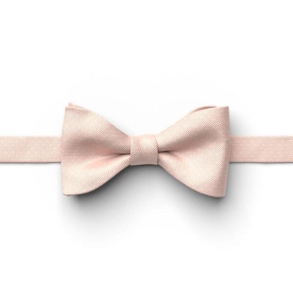 Blush Pin Dot Pre-Tied Bow Tie