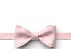 Petal Pink Pin Dot Pre-Tied Bow Tie