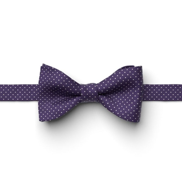 Regency Pin Dot Pre-Tied Bow Tie