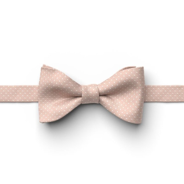 Rose Gold Pin Dot Pre-Tied Bow Tie