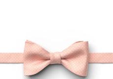 Salmon Pin Dot Pre-Tied Bow Tie