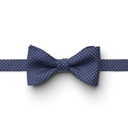 Sapphire Pin Dot Pre-Tied Bow Tie