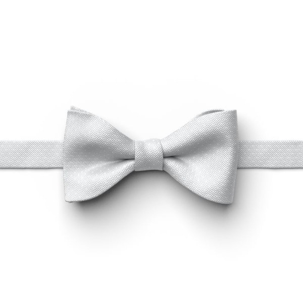 Silver Pin Dot Pre-Tied Bow Tie