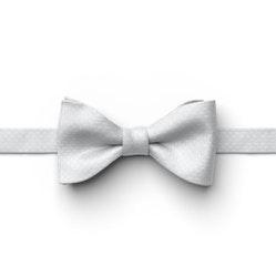 Silver Pin Dot Pre-Tied Bow Tie